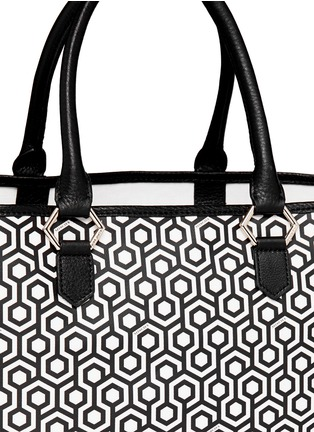 Detail View - Click To Enlarge - Mischa - 'Shopper' hexagon print coated canvas tote