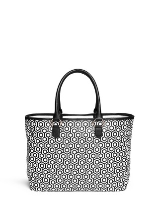 Back View - Click To Enlarge - Mischa - 'Shopper' hexagon print coated canvas tote
