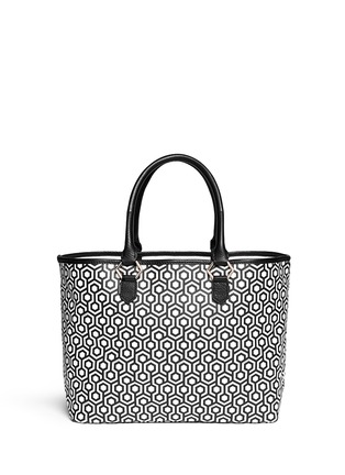 Main View - Click To Enlarge - Mischa - 'Shopper' hexagon print coated canvas tote