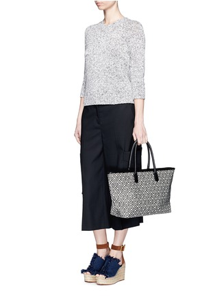 Figure View - Click To Enlarge - Mischa - 'Shopper' hexagon print coated canvas tote