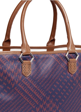 Detail View - Click To Enlarge - MISCHA - 'Shopper' Glen plaid print coated canvas tote