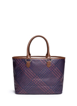 Back View - Click To Enlarge - MISCHA - 'Shopper' Glen plaid print coated canvas tote