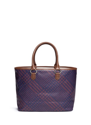 Main View - Click To Enlarge - MISCHA - 'Shopper' Glen plaid print coated canvas tote