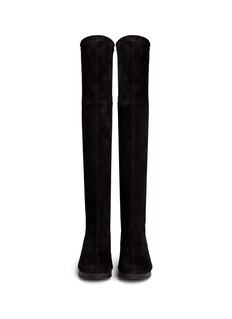 Robert Clergerie 'Natuj' stretch suede wedge thigh high boots
