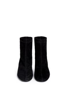 ROBERT CLERGERIEMetal heel stretch suede ankle boots