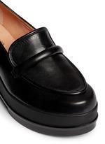 'Yokolej' leather wedge platform loafers
