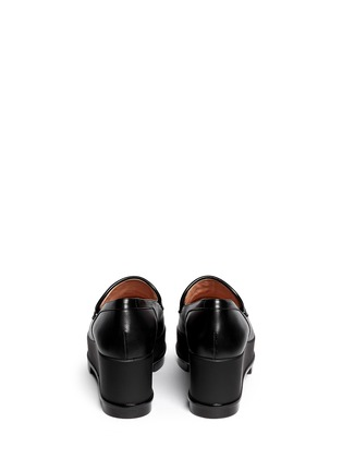 Back View - Click To Enlarge - Robert Clergerie - 'Yokolej' leather wedge platform loafers