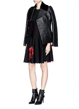 Figure View - Click To Enlarge - Alexander McQueen - Rose jacquard knit flare dress
