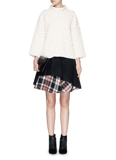 ALEXANDER MCQUEENRose quilted wool knit sweater