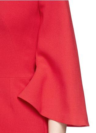 Detail View - Click To Enlarge - Alexander McQueen - Petal sleeve wool crepe dress