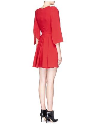 Back View - Click To Enlarge - Alexander McQueen - Petal sleeve wool crepe dress