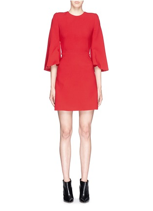 Main View - Click To Enlarge - Alexander McQueen - Petal sleeve wool crepe dress