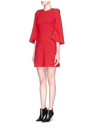 Figure View - Click To Enlarge - Alexander McQueen - Petal sleeve wool crepe dress