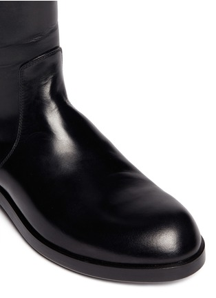 Detail View - Click To Enlarge - ALBERTO FASCIANI - 'Oxana' leather equestrian boots