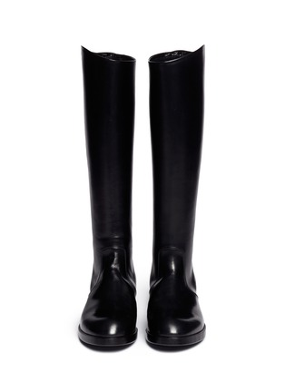 Figure View - Click To Enlarge - ALBERTO FASCIANI - 'Oxana' leather equestrian boots