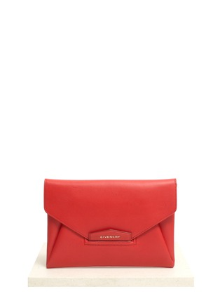 Main View - Click To Enlarge - Givenchy - Antigona leather envelope clutch