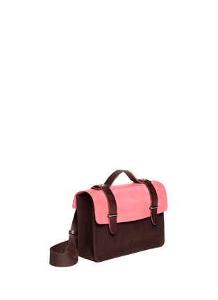 Detail View - Click To Enlarge - SEVENTY EIGHT PERCENT - Zazie leather canvas mini satchel