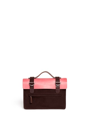 Back View - Click To Enlarge - SEVENTY EIGHT PERCENT - Zazie leather canvas mini satchel