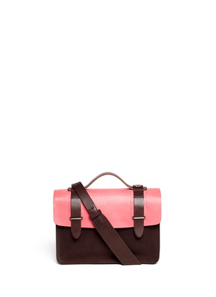 Main View - Click To Enlarge - SEVENTY EIGHT PERCENT - Zazie leather canvas mini satchel