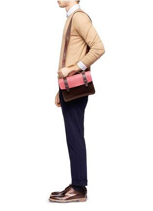 Figure View - Click To Enlarge - SEVENTY EIGHT PERCENT - Zazie leather canvas mini satchel