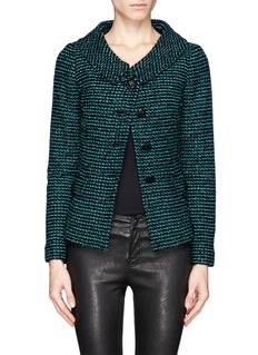 ST. JOHN Raffia and dash knit wool jacket