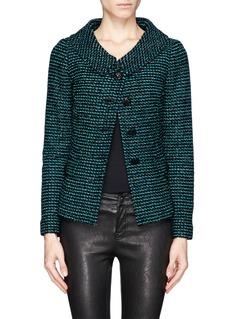 ST. JOHNRaffia and dash knit wool jacket