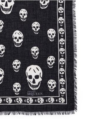Detail View - Click To Enlarge - Alexander McQueen - Skull print modal-silk scarf