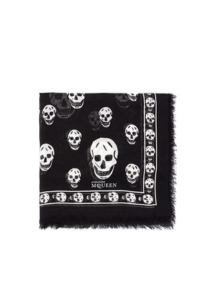 Main View - Click To Enlarge - Alexander McQueen - Skull print modal-silk scarf