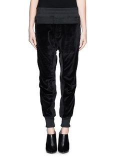 HAIDER ACKERMANN 'Strozzi' velvet panel jogging pants