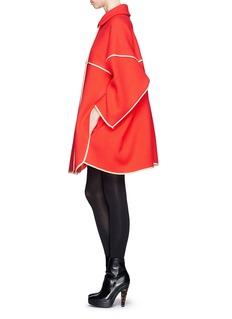 CHLOÉ'Manteau' large plaid cocoon coat