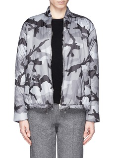 VALENTINO Camouflage print puffer jacket