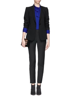 ARMANI COLLEZIONI'Gabardine' elasticated skinny pants