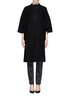 GIVENCHYCut out sleeve wool cape