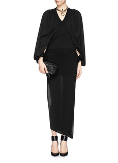 GIVENCHY Open slit gigot sleeve wool sweater
