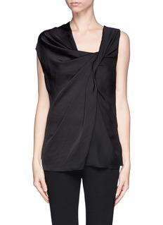 LANVINTwist front georgette sleeveless blouse