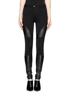 GIVENCHY Leather panel Milano knit skinny pants