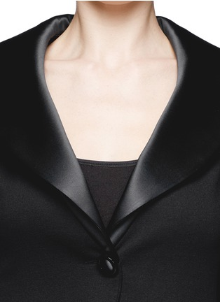 Detail View - Click To Enlarge - Armani Collezioni - Satin lapel jersey blazer