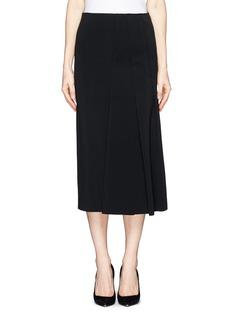 VICTORIA BECKHAMAsymmetric pleat stretch jersey midi skirt