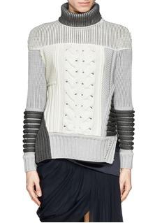 PRABAL GURUNGContrast knit turtleneck sweater