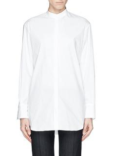 THE ROW'Madison' mandarin collar poplin shirt