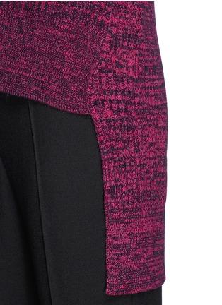 Detail View - Click To Enlarge - THAKOON - High-low hem merino wool sweater