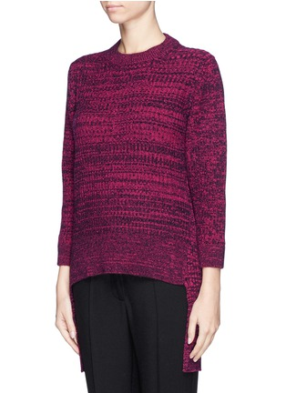 Front View - Click To Enlarge - THAKOON - High-low hem merino wool sweater