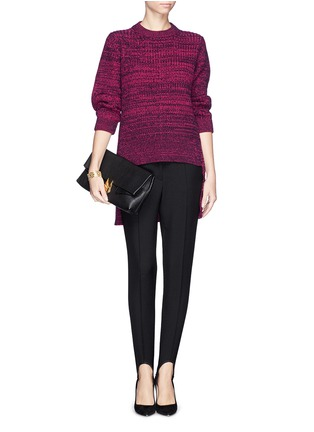 Figure View - Click To Enlarge - THAKOON - High-low hem merino wool sweater