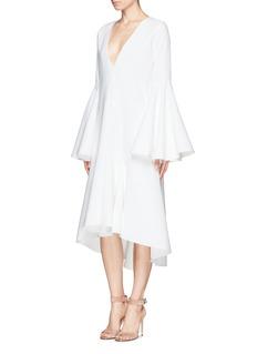 ELLERY'Charlotte' bell sleeve godet dress