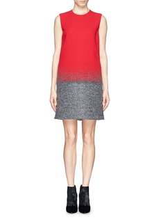 VICTORIA, VICTORIA BECKHAM Crepe and felt gradient shift dress