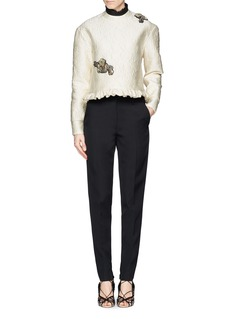 ERDEM 'Jess' pleat band collar satin bib
