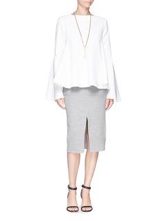 ELLERY'Lottie' flare sleeve crepe top