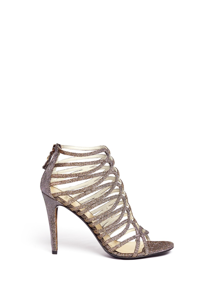 Loops metallic caged sandals