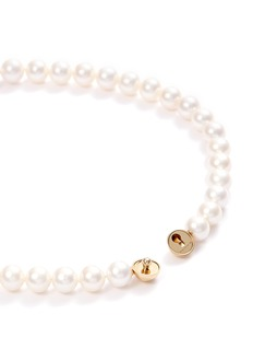 Tasaki 'Sliced' freshwater pearl 18k yellow gold necklace