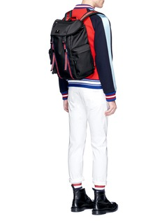 GucciWeb stripe tech canvas backpack